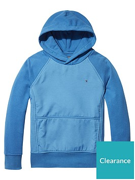 tommy-hilfiger-boys-panel-hoodie-blue
