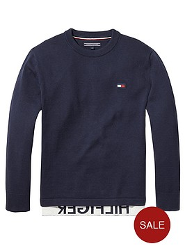 tommy-hilfiger-boys-crew-neck-sweat-navy