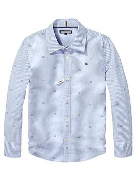 tommy-hilfiger-boys-oxford-stripe-print-shirt-bluenbsp