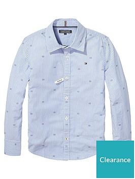 tommy-hilfiger-boys-oxford-stripe-print-shirt-bluenbsp