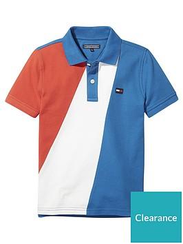 c8d7866fa Tommy Hilfiger Boys Colour Block Polo Shirt - Multi ...