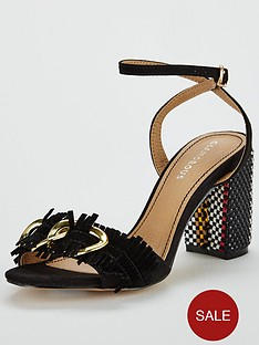 glamorous-buckle-block-heeled-sandal-black