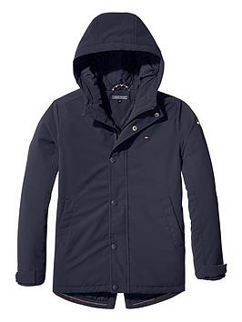 tommy-hilfiger-boys-coated-hooded-parka-navy
