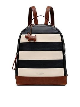 radley-radley-babington-stripe-medium-backpack-ziptop-bag