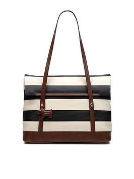 radley-babington-stripe-medium-tote-shoulder-flapover-bag