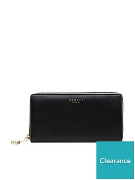radley-arlington-street-large-zip-around-matinee-purse-black