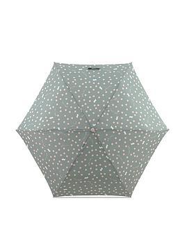 radley-vintage-dog-spot-mini-telescopic-umbrella-green