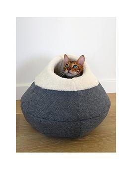 rosewood-round-cosy-plush-cat-cave