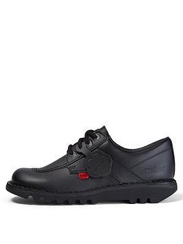 kickers-kick-lo-w-corenbspleathernbspnbspflat-shoes-black