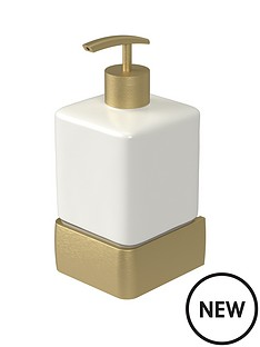 aqualux-haceka-aline-ceramic-soap-dispenser-ndash-gold