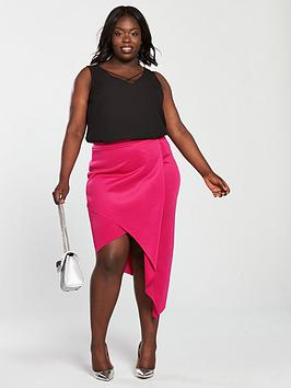 Jersey Skirt Curve V Very Asymmetric by Cheap Sale Best Place Wiki Cheap Price Get The Latest Fashion Online For Sale t798nN8Ly
