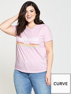 v-by-very-curve-california-rainbow-slogan-tee