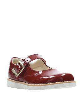 clarks-crown-honor-girls-first-shoes-orange-patent