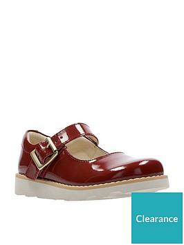 587a3e7c1f9 Clarks Crown Honor Girls Infant Shoes - Orange Patent ...