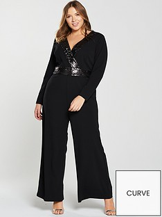 v-by-very-curve-sequin-trim-wide-leg-jumpsuit-black