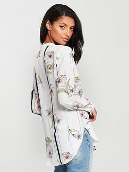Stripe Wallis  Shirt Floral Ivory Buy Cheap Best Cheap Recommend d9yQ4