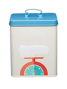 kitchencraft-art-deco-metal-flour-storage-tin