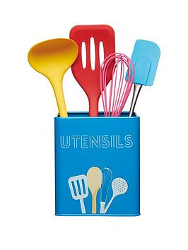 kitchencraft-art-deco-utensil-storage-tin