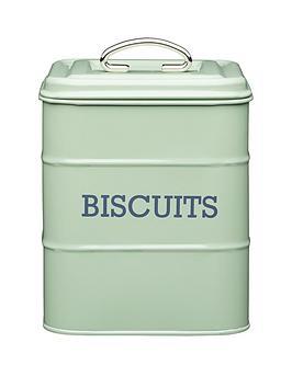 kitchencraft-biscuit-storage-tin-ndash-english-sage-green