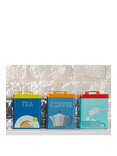 kitchencraft-art-deco-metal-tea-coffee-and-sugar-tin-storage-set