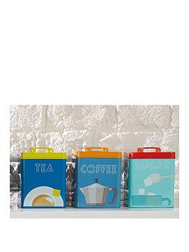 kitchencraft-art-deco-metal-tea-coffee-and-sugar-tin-storage-set