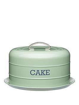 kitchencraft-airtight-domed-cake-tin-english-sage-green