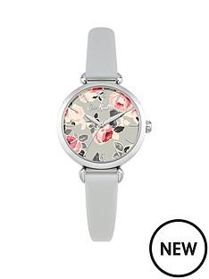 cath-kidston-ckl047es-paper-rose-floral-grey-dial-grey-leather-strap-ladies-watch