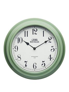 kitchencraft-255cm-wall-clock-ndash-english-sage-green