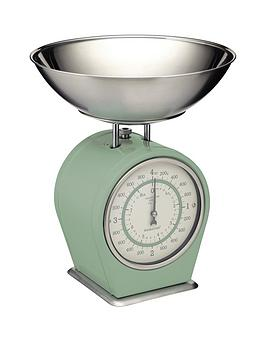 kitchencraft-4kg-mechanical-scales-english-sage-green