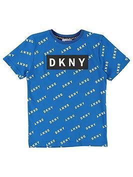 dkny-boys-short-sleeve-all-over-print-logo-t-shirt