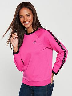 fred-perry-taped-crew-neck-sweatshirt-pink