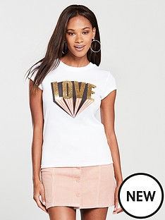 river-island-love-print-slim-t-shirt
