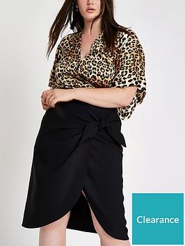 ri-plus-wrapped-tie-side-midi-skirt-black
