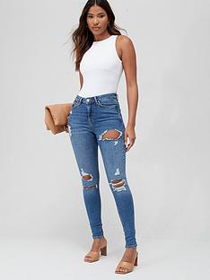 v-by-very-ella-high-waistnbspripped-skinnynbspjean-mid-wash