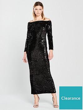 v-by-very-bardot-sequin-maxi-black