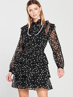 V by Very Shirred Waist Tiered Dress fb06ff7c9b8