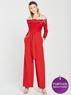 v-by-very-lace-bardot-jumpsuit-red