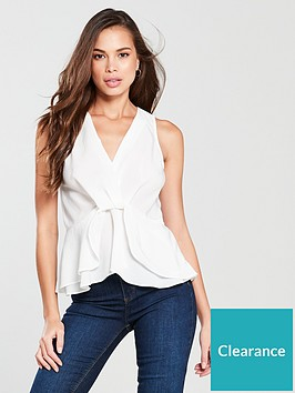 river-island-twist-front-top-white