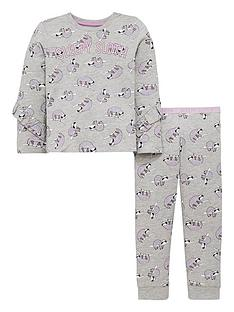 mini-v-by-very-girls-sleepy-sloth-ruffle-pyjamas-grey