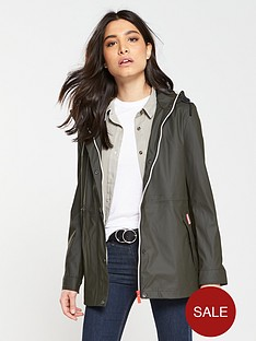 hunter-original-lightweight-rubberised-festival-jacket-dark-olive