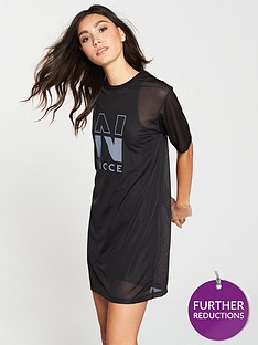 nicce-mesh-t-shirt-dress-black