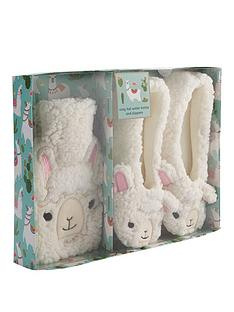 llama-hot-water-bottle-and-slippers-set