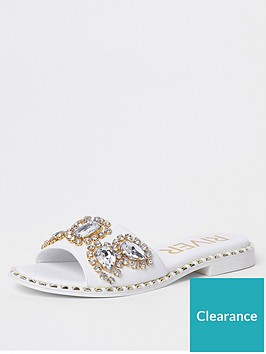 river-island-river-island-embellished-gem-sliders-white