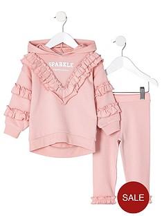 river-island-mini-girls-pink-sparkle-sweatshirt-outfit