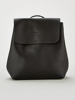 miss-selfridge-minimal-backpack-black
