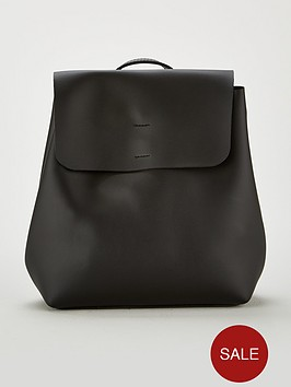 miss-selfridge-minimal-backpack-black