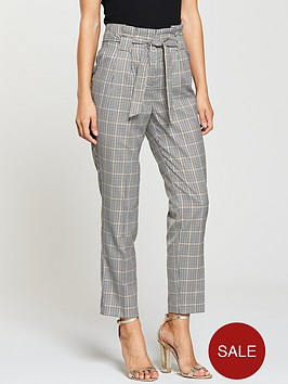 miss-selfridge-check-paperbag-trouser