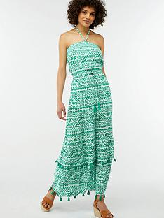 monsoon-della-bandeau-maxi-dress-green