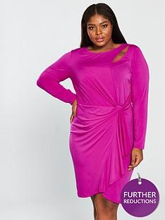 d79a3ec5717 V by Very Curve Slinky Jersey Dress - Hot Pink