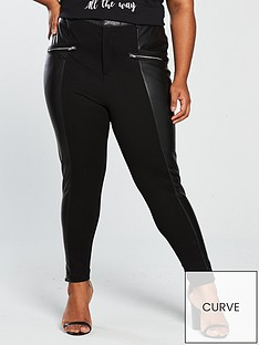 v-by-very-curve-zip-detailnbspfaux-leather-trouser-black